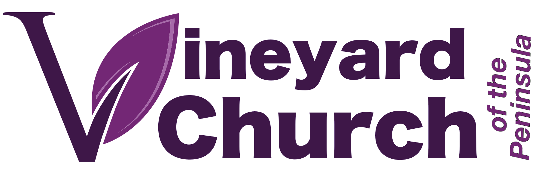 Logo for the Vineyard Church of the Peninsula
